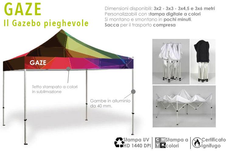 gazebo personalizzato con stampa a colori