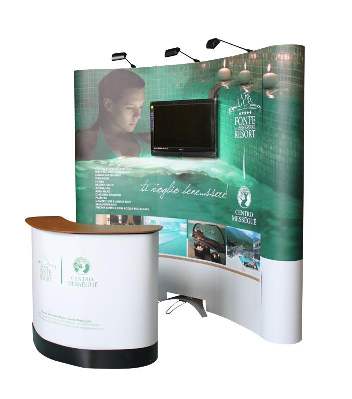 Stand portatili Multimediali - 3x3 curvo e desk trolley