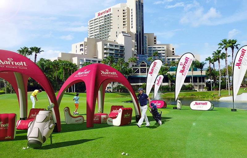Gazebo gonfiabile 4x4 | Campo da golf