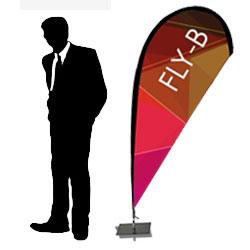 Fly Banner - H. 180 cm. da terra - BOX