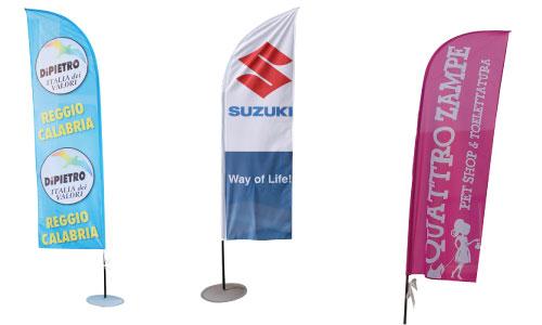 Bandiere a vela - personalizzate con stampa sublimatica a colori