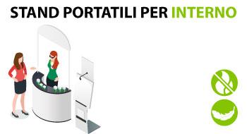 stand portatili per interno