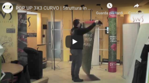 Pop up stand - video tutorial modello 3x3 curvo