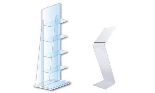 Espositori in plexiglass